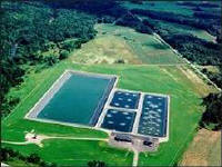 Mars Hill Wastewater Lagoon System - Mars Hill  Maine. Photo Courtesy of Wright-Pierce Engineers.